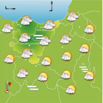 Niebla y frío a primeras horas, mañana soleada y temperaturas máximas de 15 grados este viernes en Euskadi