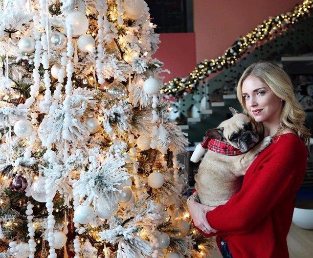 Chiara Ferragni muestra su árbol de Navidad las fiestas pasadas
