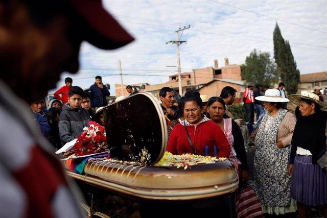 Uno de los fallecidos por disparos de las fuerzas de seguridad contra simpatizantes de Evo Morales en Sacaba, Cochabamba