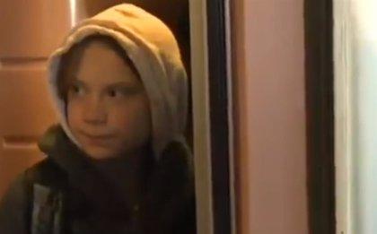 Greta Thunberg llega a Madrid en un tren procedente de Lisboa