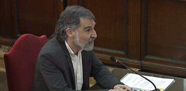 El president d'Òmnium Cultural, Jordi Cuixart, en una foto d'arxiu.