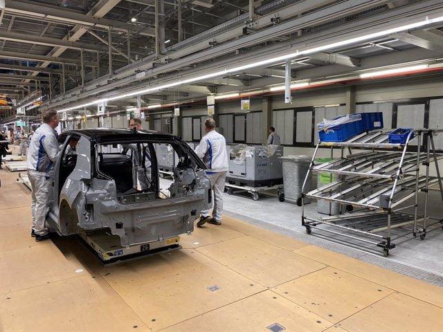Producción del Volkswagen ID.3 en la planta de Zwickau (Alemania)