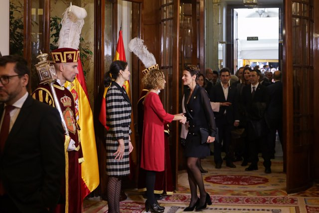 María Chivite en los actos del Día de la Constitución en el Congresoi