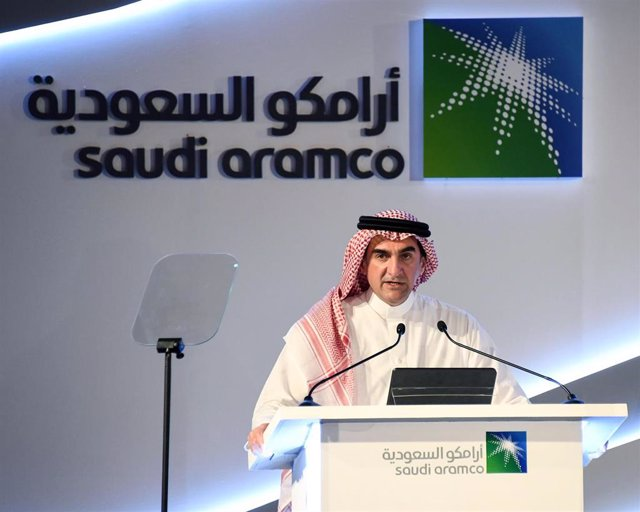 03 November 2019, Saudi Arabia, Dammam: Chairman of Saudi Arabian Oil Company Saudi Aramco Yasir Al-Rumayyan speaks at a press conference. Saudi Arabia approved Today an initial public offering (IPO) of its oil giant Aramco, which will see part of the com