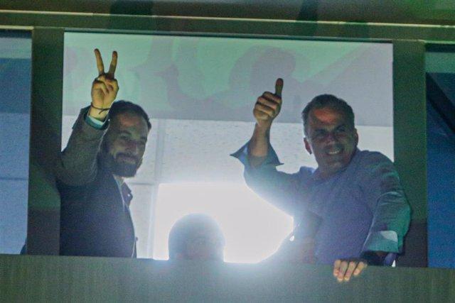 El presidente de Vox, Santiago Abascal, y su número dos, Javier Ortega Smith