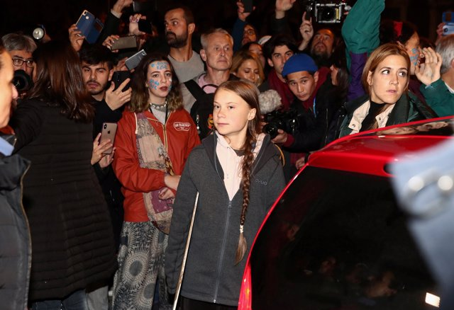 Greta Thumberg en la marcha del clima de Madrid