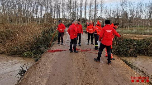 Diversos cuerpos de emergancias buscan a un joven desaparecido en el área de Sils (Girona) el 6 de diciembre de 2019