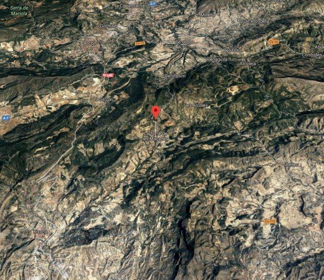 Localización de Torremanzanas/la Torre de les Maçanes
