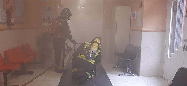 El centro de salud 'Los Marqueses' de Linares realiza un simulacro de incendios