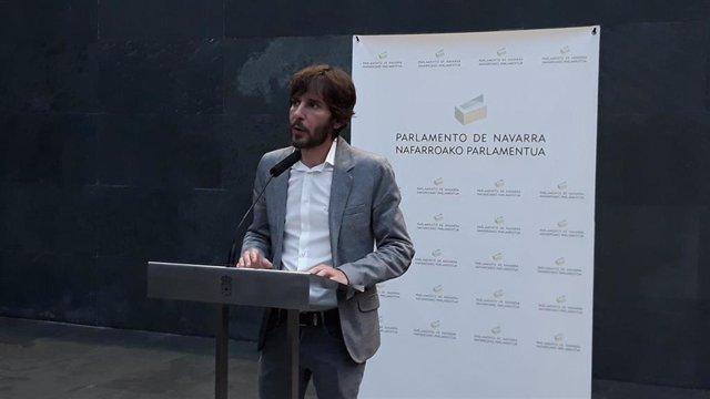 El portavoz de Podemos, Mikel Buil.