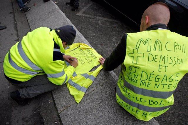 """Manifestación de """"chalecos amarillos"""" en París"""
