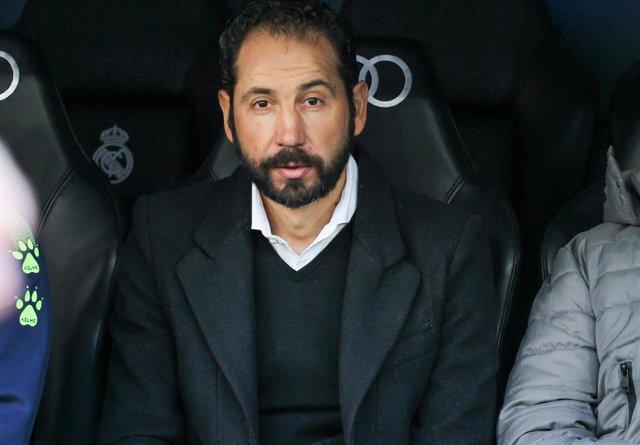 Pablo Machín, entrenador del RCD Espanyol, al partit contra el Reial Madrid al Santiago Bernabéu, 7 de desembre del 2019.