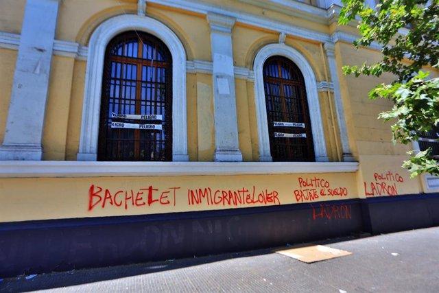 Pintadas en la Universidad de Chile