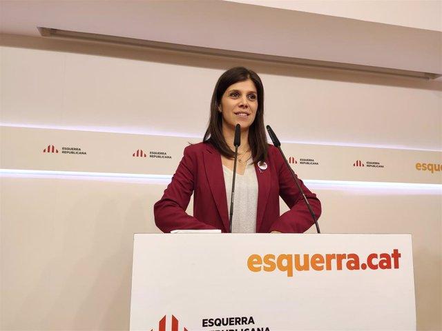 La portavoz de ERC, Marta Vilalta, en una foto de archivo.