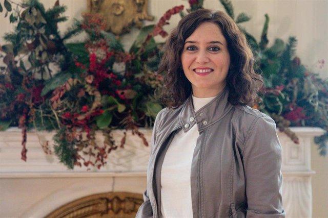 Retrato de la presidenta de la Comunidad de Madrid, Isabel Díaz-Ayuso en Madrid, a 7 de diciembre de 2019