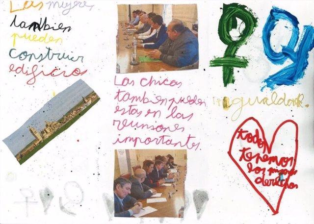 Página del fancine elaborado por niños de Peguerinos