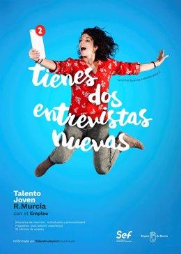 Cartel de la nueva campaña de la CARM para promocionar el Talento Joven