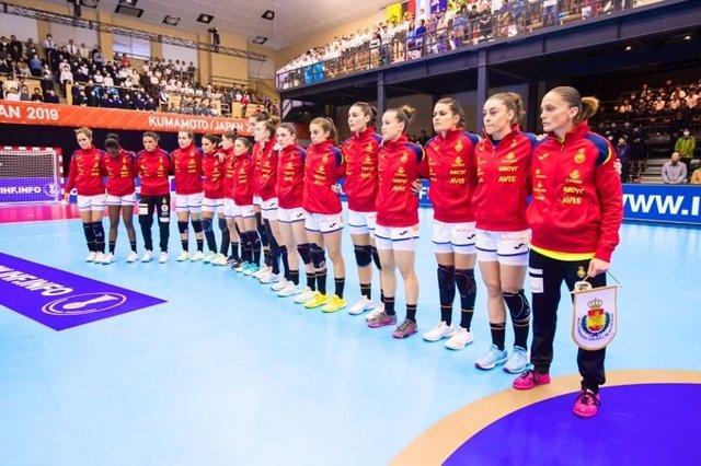 La selección española femenina de balonmano