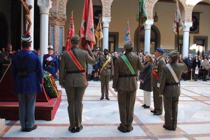 Celebran un acto militar en honor de la Inmaculada Concepción en Sevilla