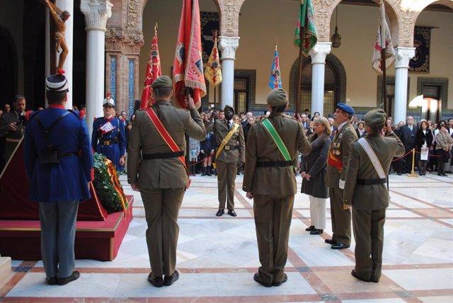 Acto militar en honor de la Inmaculada Concepción.