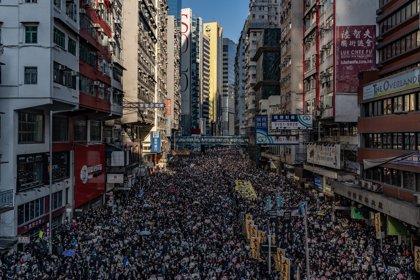 Marcha del Día de los Derechos Humanos en Hong Kong en imágenes