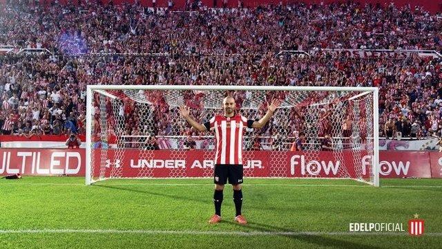 El argentino Javier Mascherano, presentado como jugador de Estudiantes de La Plata