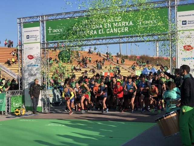 La III cursa 'En marxa contra el càncer Barcelona', celebrada el 8 de desembre del 2019 al Parc del Fòrum.