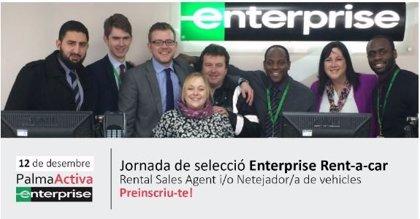 PalmaActiva selecciona personal para cubrir hasta 30 vacantes en la compañía de alquiler de coches Enterprise Rent-a-car