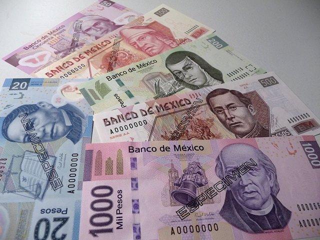 Pesos mexicanos en billetes