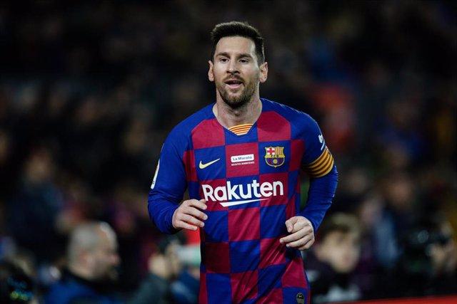 Lionel Messi, en un partido con el FC Barcelona.