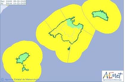 La Aemet pronostica rachas de viento superiores a los 110km/h en cumbres y cabos de Mallorca