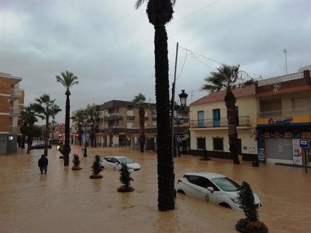 Inundaciones diciembre en Los Alcázares