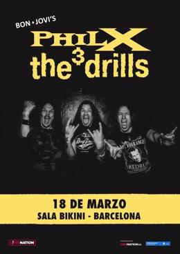Cartell del concert de 'Phil X and The Drills'