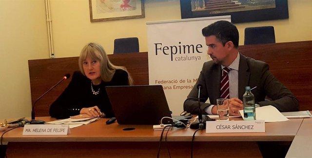 Maria Helena de Felipe y César Sánchez (Fepime)