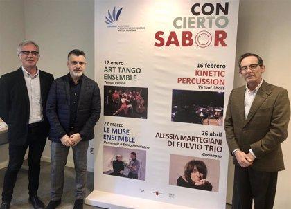 Vuelve 'Con-cierto sabor' con 4 espectáculos de tango, percusión, música de Morricone y jazz-bossanova en el Auditorio
