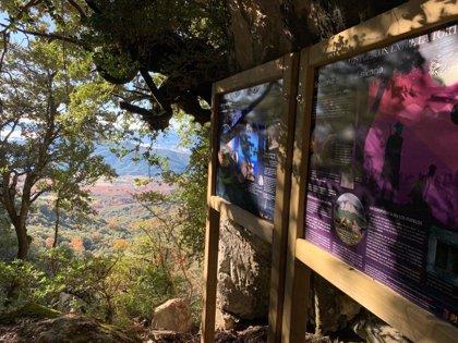 La DPH y el Ayuntamiento de El Pueyo de Araguás recuperan el sendero del refugio de los maquis en Peña Montañesa