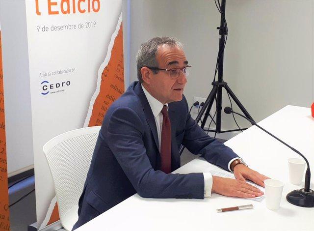 El president del Gremi d'Editors de Catalunya, Patrici Tixis.