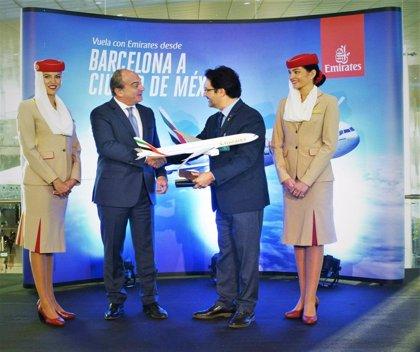 Emirates inaugura un vuelo que conecta Barcelona con Ciudad de México