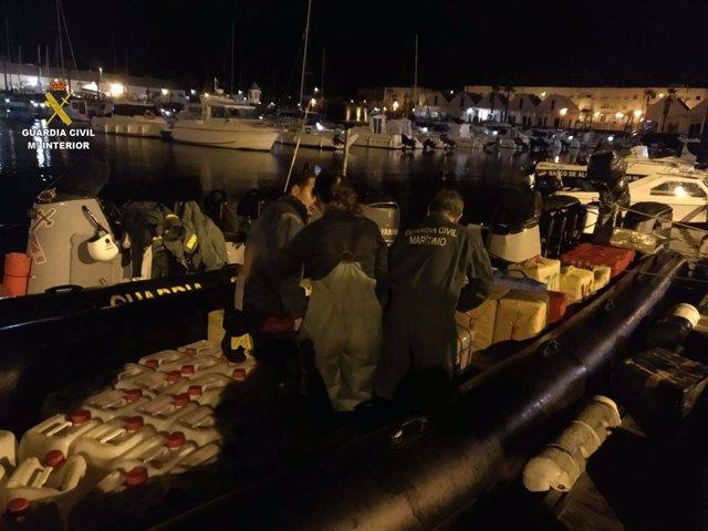 Operativo contra el narcotráfico en Isla Cristina (Huelva).