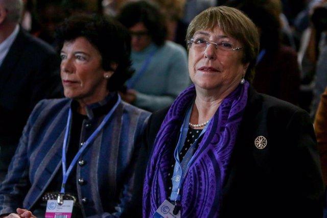 """COP25.- Bachelet pide que los jóvenes participen en las decisiones: """"Han estado"""
