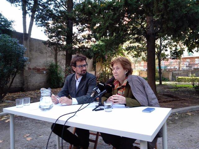 La pta.de Fundació Hàbitat3 Carme Trilla i el dtor.Gral. Xavier Mauri