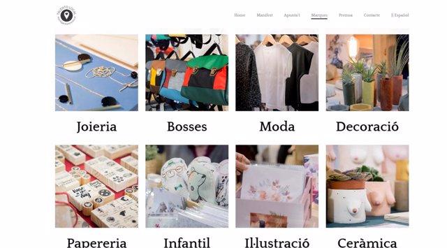 Web de la campanya Jo Regalo Talent Local