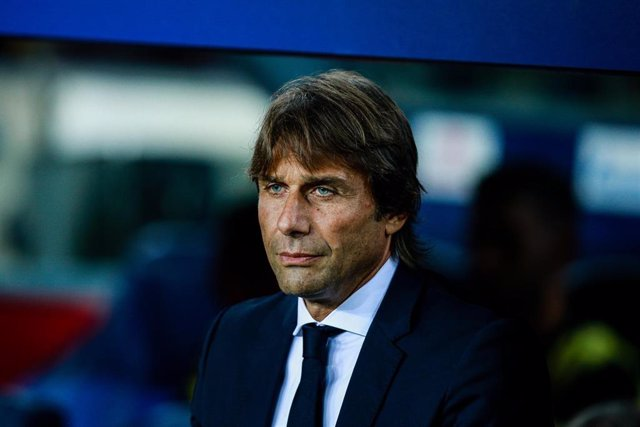 Antonio Conte of FC Internazionale Milano during the UEFA Champions League group match between FC Barcelona and FC Internazionale Milano in Camp Nou Stadium in Barcelona 02 of October of 2019, Spain.