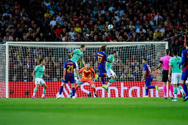 17 Antoine Griezmann from France of FC Barcelona during the UEFA Champions League group match between FC Barcelona and FC Internazionale Milano in Camp Nou Stadium in Barcelona 02 of October of 2019, Spain.
