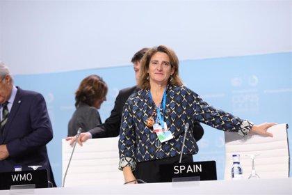 """Ribera pide a los países no quedarse """"atrás"""" en la """"demanda social importantísima"""" contra el cambio climático"""