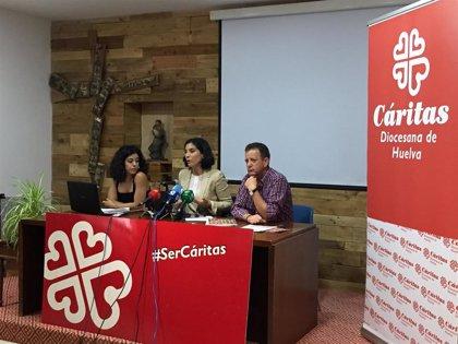 Cáritas atiende este año a más de 760 personas sin hogar en su centro de día Puertas Abiertas de Huelva