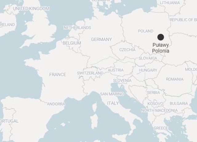 Mapa de Pulawy, Polonia