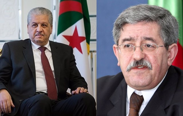 Antiguos primeros ministros argelinos Ahmed Uyahia (d) y Abdelmalek Sellal (i)