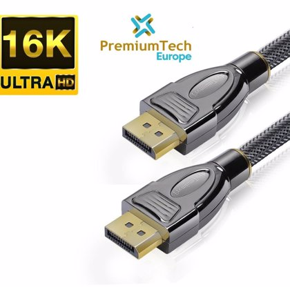 PremiumTech Europe, 1ª empresa en ofrecer el Cable DisplayPort 2.0 que soporta hasta 16K y 1000Hz