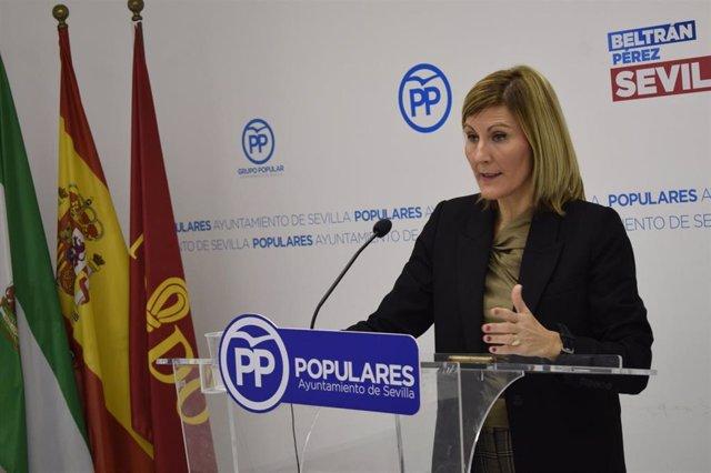 La concejal del PP en el Ayuntamiento de Sevilla Ana Jáuregui